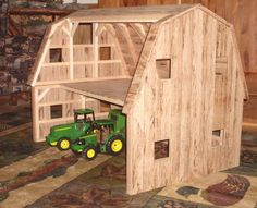 How to Build toy barns | Wooden Toy Barn by Wild Cat Hollow Creations. Find it on CustomMade ...