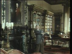 Period Pieces and Portraiture: Highclere Castle. Jeeves and Wooster: Series Two, Episode Two (A Plan for Gussie)- Library