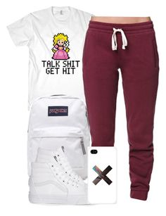 """""""1:30:15"""" by codeineweeknds ❤ liked on Polyvore featuring JanSport, LA: Hearts, Vans and Samsung"""