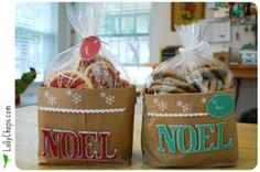 Cute bags to make for giving cookies or other homemade gifts