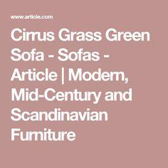 Cirrus Grass Green Sofa - Sofas - Article   Modern, Mid-Century and Scandinavian Furniture