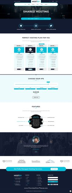 Hostby is clean and trendy design PSD template for web #hosting services #website with 26 layered PSD pages to live preview & download click on Visit #psdmockups