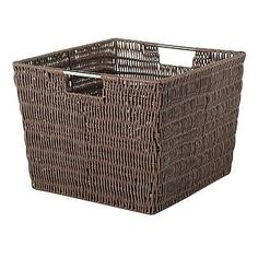 $19.00 Essential Home  Rattique Java Basket Large.  (HxWxD):13 x 15 x 10 in. Kmart  Item#  011W582023110001 | Model#  58202311. Use in china/Linen cabinet.
