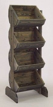Wooden Barrel Rack Vegetable Bin - Color Choice Available