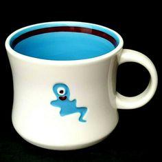 Starbucks Halloween 2006 Coffee Mug One Eyed Blue Ghost 14 oz 3.5 inch x 4 inch   eBay