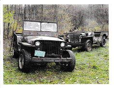 1941 Willys Slat Grille MB and 1945 Ford GPW - Photo submitted by Jim Marcroft.