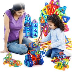 132 pcs Mini Model & Bangunan Blok Magnet Mainan Set Magnetic Designer Konstruksi Plastik Mainan Pendidikan Untuk Anak Hadiah