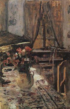 Twilight in the room, 1880, Konstantin Alekseevich Korovin. Russian (1861 - 1932)