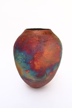 copper mat raku by Tim Betts at the Raku Garden, Croatia