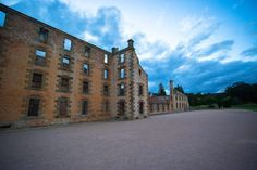 The Port Arthur prison ruins at dusk. We had beautiful weather last night for exploring the grounds and keeping an eye out for ghosts and other strange occurrences.