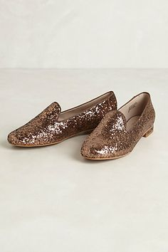 glitzed smoking loafers / anthropologie