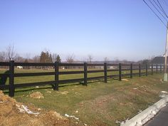 PRIZM VINYL FENCES  Style: 3 Rail Ranch   Color: Chestnut