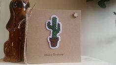Cactus Birthday Card Cactus Card Handmade Birthday Card