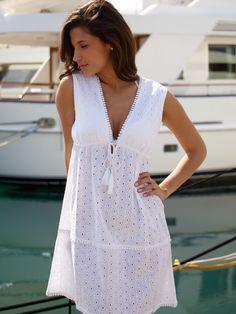 Gorgeous Summer Cotton Dresses from La Mandarine 2015 Buy now at www.lamandarine.co.uk