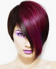 funky hair color ideas for short hair