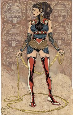 Ming Doyle's Wonder Woman. DC Comic Art  Very cool and Grecian looking.