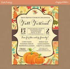 Fall Festival Flyer Template Printable Flyers In Word Fall - Free printable fall festival flyer templates