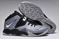034d5d225b77 Nike Zoom Lebron Soldier 7 Grey Black For Sale
