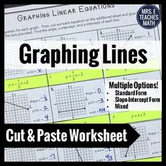 Regrouping Worksheets For 3rd Grade Excel Linear Equations Slopeintercept Form Line Puzzle Activity  Beginners Music Theory Worksheets Pdf with Observation Worksheet Excel Graphing Linear Equations Cut And Paste Worksheet Adverbs Worksheet Grade 4 Excel
