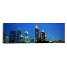 East Urban Home Panoramic Skyline Atlanta, GA Photographic Print on Canvas Size: