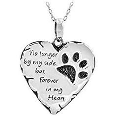Paw Prints Forever in My Heart Necklace