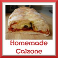 Pizza to go -- a calzone! Wrap the fillings in a pretty braided dough with this photo tutorial. Homemade Calzone, Calzone Recipe, Great Recipes, Dinner Recipes, Favorite Recipes, Italian Dishes, Italian Recipes, Good Food, Yummy Food
