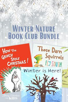 Join us on a Winter Nature Adventure! We'll read some great winter books. Then we'll go on rabbit trails of discovery about animals, plants, Christmas and more! We will toss some magic dust in the air and jump into the books with hands-on adventures. And when we've finished each book, we'll throw a party and celebrate winter nature!