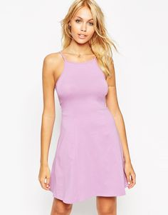 Image 1 of ASOS 90's Skater Dress with High Neck