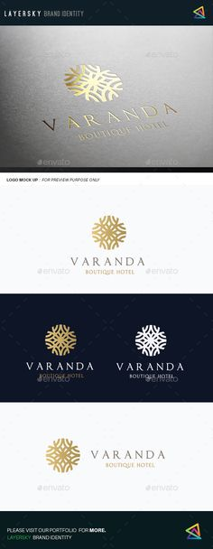 Buy Boutique Hotel II by LayerSky on GraphicRiver. Logo Template Features Scalable Vector Files Ready on Adobe Photoshop file Everything is editable Everything is . Hotel Logo, Spa Logo, Hotel Branding, Logo Restaurant, Logo Branding, Branding Design, Luxury Logo Design, Elegant Logo Design, Logo Inspiration