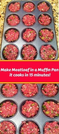 Meatloaf in a Muffin Tin - Meat Recipes Beef Dishes, Food Dishes, Main Dishes, Cooking Recipes, Healthy Recipes, Delicious Recipes, Keto Recipes, Ground Beef Recipes, Main Meals