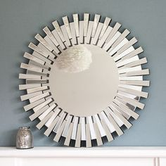 Round Glass Daisy Wall Mirror by Primrose & Plum, the perfect gift for Explore more unique gifts in our curated marketplace. Window Mirror, Wall Mirror, Mirror Glass, Overmantle Mirror, Leaner Mirror, Sunburst Mirror, Traditional Interior, Round Mirrors, Venetian Mirrors