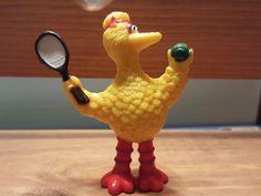TENNIS BIG BIRD 3.75 PVC FIGURE, Sesame Street, Cake Topper, Tara Toy #TARATOY