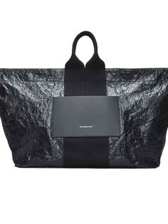 ALEXANDER WANG AW LOGO TOTE. #alexanderwang #bags #leather #hand bags #polyester #tote #