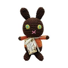 Mock Choco Easter Bunny Organic Cotton Dog Toy