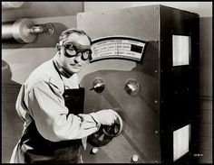 Man Made Monster, 1941 (Universal Pictures, USA) (Re-released as The Atomic Monster in 1953) Mad Scientist, Dr. Paul Rigas (aka Lionel Atwill) turns up the 'radiation energy units' as he tries to perfect The Electric Man - a prototype super-soldier...