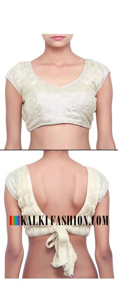 Buy online at: http://www.kalkifashion.com/silver-blouse-enhanced-in-gazing-only-on-kalki.html Free shipping worldwide.