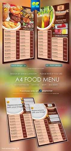 Restaurant Food Menu Bundle    GfxocenCom  Best