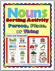 Nouns Sorting Activity - Person, Place, or Thing