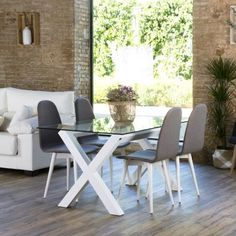 Gauss base mesa comedor blanca Dining Area, Dining Chairs, Dining Room, Dining Table, Wood Furniture, Outdoor Furniture Sets, Outdoor Tables, Outdoor Decor, White Wood