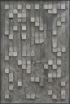 Art piece by Naomi Doran, Cube-Form-I board form concrete idea