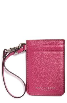 MARC JACOBS Commuter Leather Card Case available at #Nordstrom