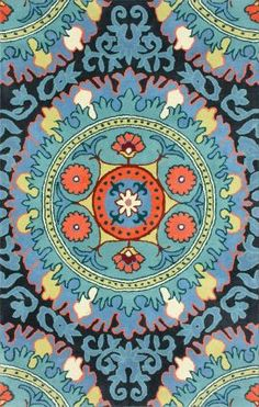 Rugs USA Satara Naima Suzani Blue Rug--Daughter's 1st choice rug if we can find it in stock any where.