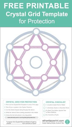 Crystal Grids: Download this Free Printable Crystal Grid Template for Protection.