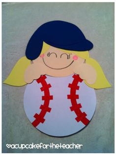 CUTE baseball writing activity
