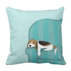 Happy Couch Dog - #Cute #Beagle Relaxing #Pillow