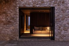 Cowes Bay Residence, Waiheke Island, New Zealand - The Cool Hunter - The Cool Hunter Amazing Architecture, Interior Architecture, Interior Design, Waiheke Island, House On The Rock, Stone Houses, The Locals, New Zealand, New Homes