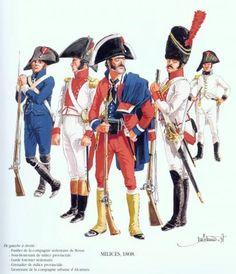 Tropas Españolas. Milicia 1808