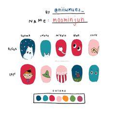 K Pop Nails, Soft Nails, Chic Nails, Stylish Nails, Diy Nails Color, Mens Nails, Asian Nails, Nail Drawing, Manicure Nail Designs