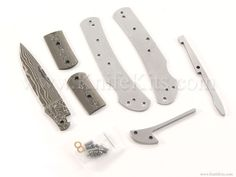 *Mustang Lockback - Damascus - Parts Kit