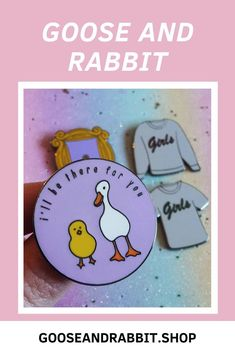 Grab this Friends TV Show chick and duck enamel pin, click through to view more friends tv enamel pins. Perfect Mother's Day Gift, Etsy Business, Friends Tv Show, Etsy Crafts, Soy Candles, Etsy Handmade, Some Fun, Stocking Stuffers, Customized Gifts